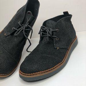 TOMS Castlerock Gray Mateo Chukka Boot Lace Up Sz8